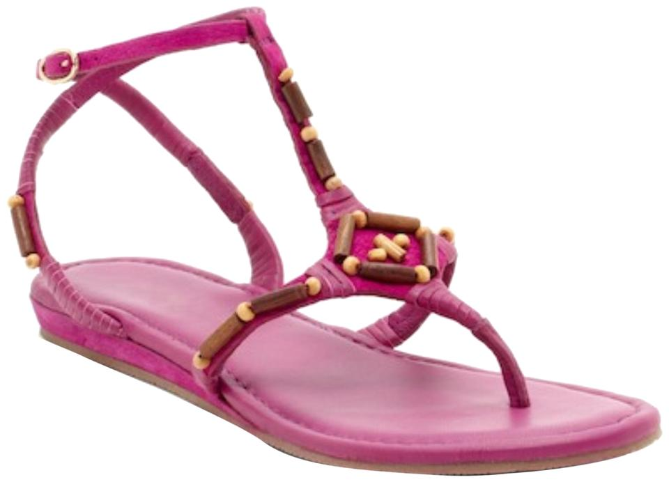 e033eb8ba76 Cole Haan Beet Pink Beaded Vamp Thong Ankle Strap Sandals. Size  US 7.5  Regular (M ...