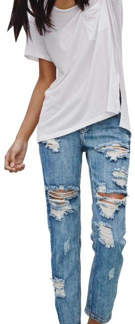 Item - Blue Distressed Awesome Baggies In Cobain Boyfriend Cut Jeans Size 2 (XS, 26)