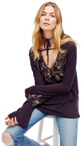 Free People Embroidered Beaded Tunic