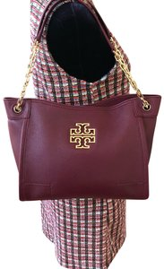 Tory Burch Pebbled Leather Satchel Leather Shoulder Bag
