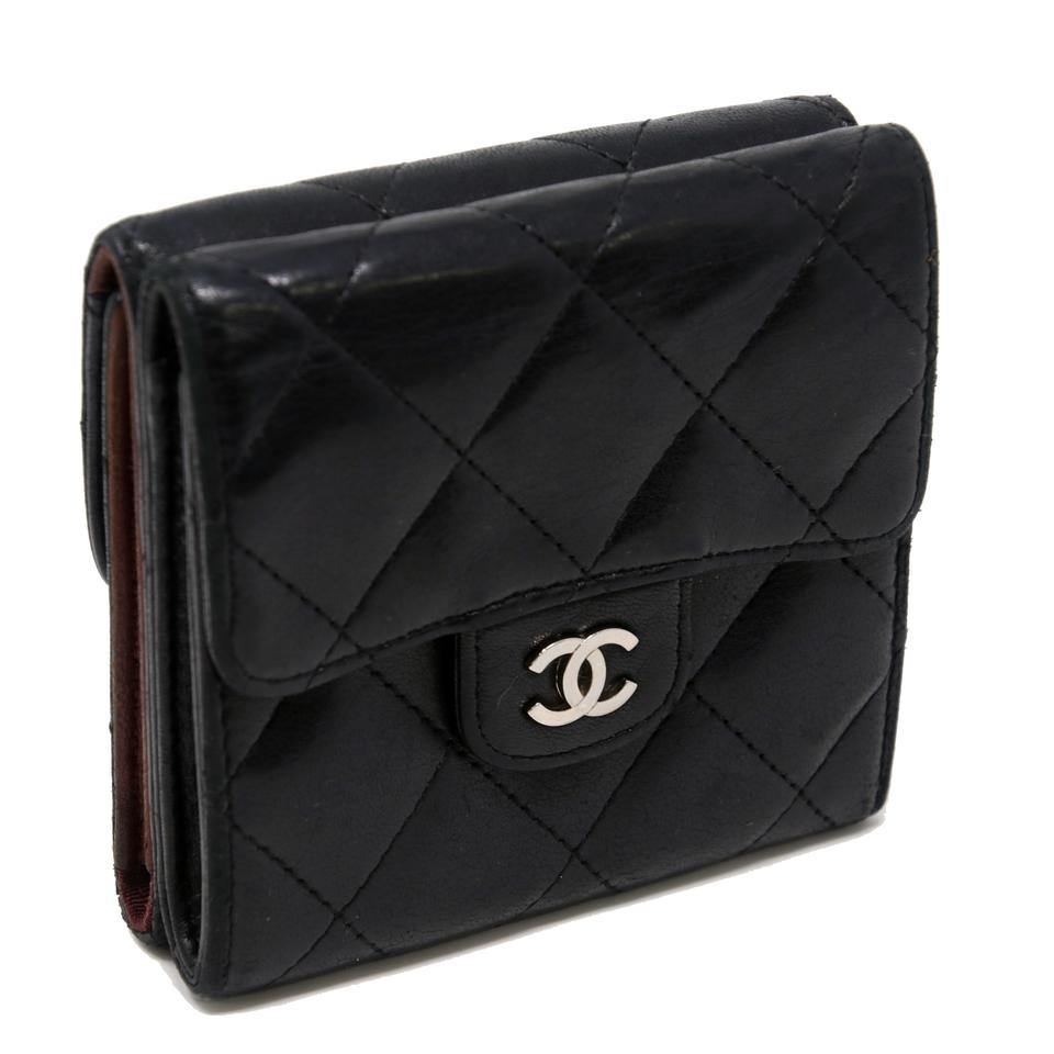3b9d36b004f5 Chanel Matelasse Lambskin Leather Quilted CC Double Sided Wallet Image 10.  1234567891011. 1 ∕ 11