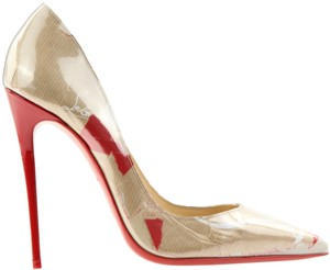 Christian Louboutin So Kate Printed Leather 120mm Brown Pumps