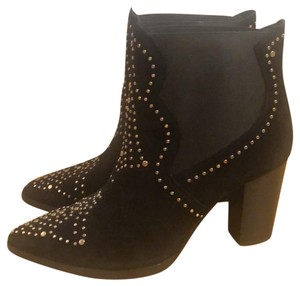 & Other Stories Studded Cowboy Chunky Black suede Boots