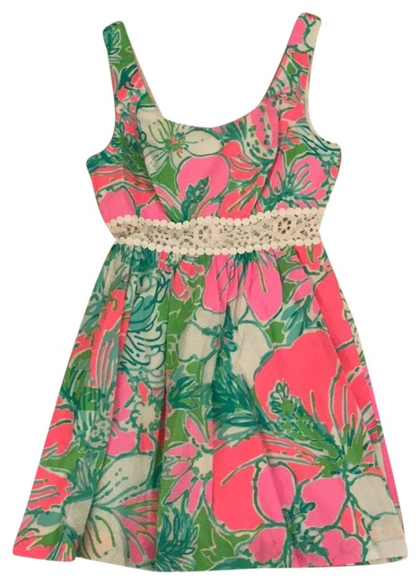 Lilly Pulitzer Multicolor Pink Short Casual Dress Size 4 (S) Lilly Pulitzer Multicolor Pink Short Casual Dress Size 4 (S) Image 1