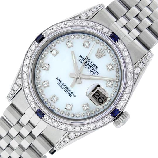Preload https://img-static.tradesy.com/item/24270972/rolex-white-mens-datejust-ss18k-gold-w-mop-diamond-dial-sapphire-watch-0-3-540-540.jpg