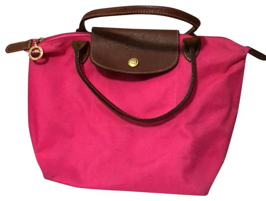 Preload https://img-static.tradesy.com/item/24270990/longchamp-pliage-small-pink-canvas-tote-0-3-540-540.jpg