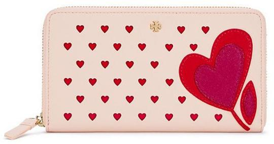 Tory Burch Tory Burch Heart Embellished Zip Continental Wallet New