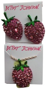 Betsey Johnson Betsey Johnson New Strawberry Earrings and Necklace