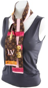 Louis Vuitton Louis Vuitton Brown SIlk Monogram Summer Trunks Bandeau