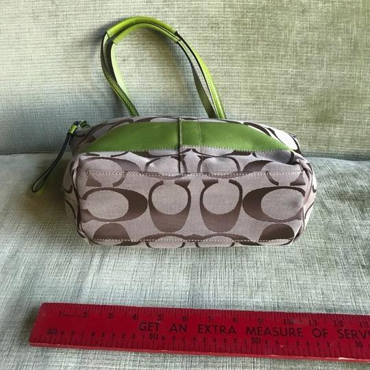 Coach Tote in khaki and green