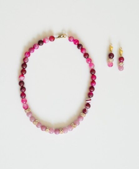Daya - boutique TRULY WONDERFUL NATURAL WATERMELON TOURMALINE 3 BEADS NECKLACE