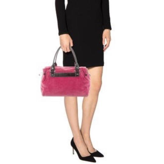 Kate Spade Satchel in pink raspberry and brown leather