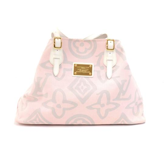 Preload https://img-static.tradesy.com/item/24271168/louis-vuitton-cabas-tahitienne-gm-white-leather-x-baby-tote-pink-canvas-shoulder-bag-0-0-540-540.jpg