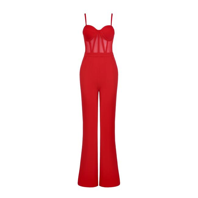 Preload https://img-static.tradesy.com/item/24271181/dior-bella-red-corset-jumpsuit-and-blazer-set-pant-suit-size-4-s-0-4-650-650.jpg