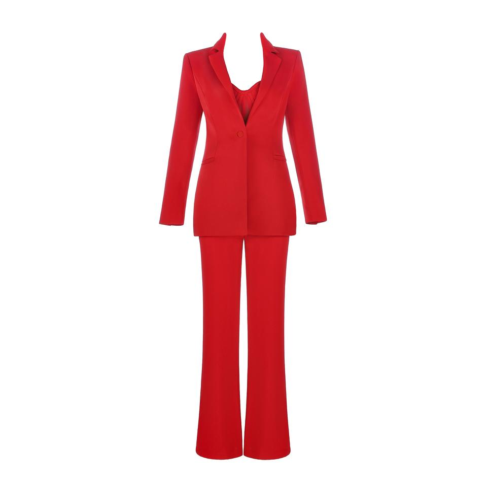 d91861464b4 DIOR BELLA Red Corset Jumpsuit and Blazer Pant Suit Size 4 (S) - Tradesy