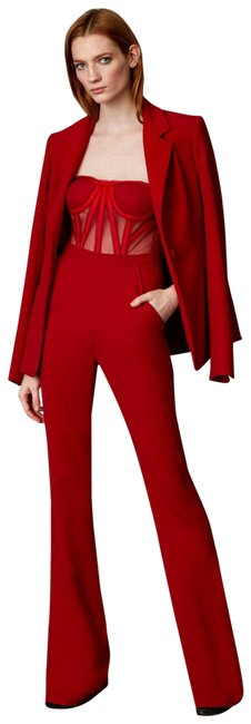 Preload https://img-static.tradesy.com/item/24271189/dior-bella-red-corset-jumpsuit-and-blazer-set-pant-suit-size-6-s-0-3-650-650.jpg
