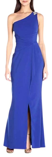 Item - Blue Womens Infusion One Shoulder Gown Long Formal Dress Size 8 (M)