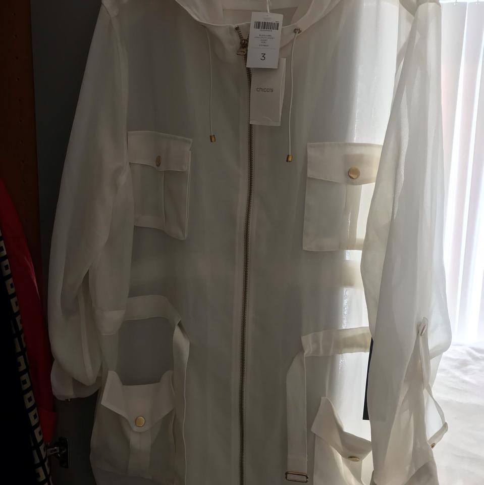 754bc912d0bc Chico s White Light Utility Jacket Activewear Size 16 (XL