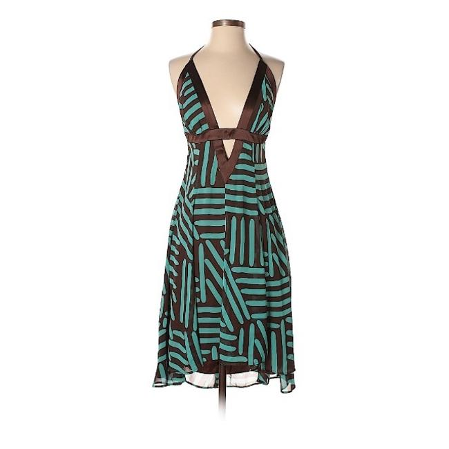 Preload https://img-static.tradesy.com/item/24271245/mystic-tealbrown-a-line-halter-night-out-dress-size-4-s-0-0-650-650.jpg