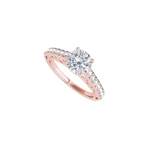 DesignerByVeronica Engagement Ring with Cubic Zirconia in 14K Rose Gold