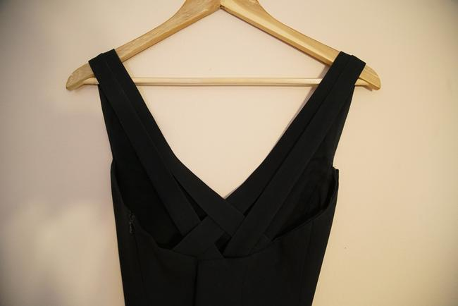 Ann Taylor short dress black Sleveless Fitted Style on Tradesy