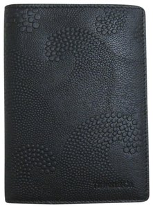 Tiffany & Co. Tiffany & Co. Wave Embossed Black Leather Passport Cover