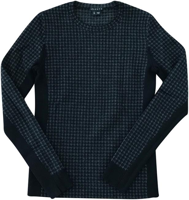 Preload https://img-static.tradesy.com/item/24271408/theory-tommie-b-noble-houndstooth-black-and-gray-sweater-0-3-650-650.jpg