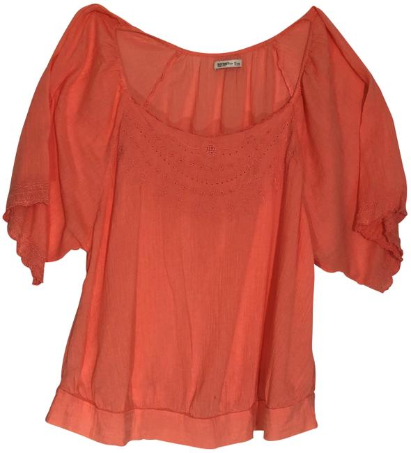 Preload https://img-static.tradesy.com/item/24271490/old-navy-coral-womens-3x-peasant-short-sleeve-shirt-blouse-size-26-plus-3x-0-3-650-650.jpg