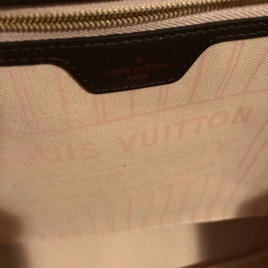 Louis Vuitton Tote in Damier Ebene Rose Lining