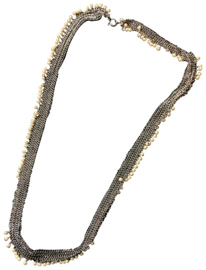 Preload https://img-static.tradesy.com/item/24271545/jcrew-silver-and-white-chain-beaded-necklace-0-1-540-540.jpg