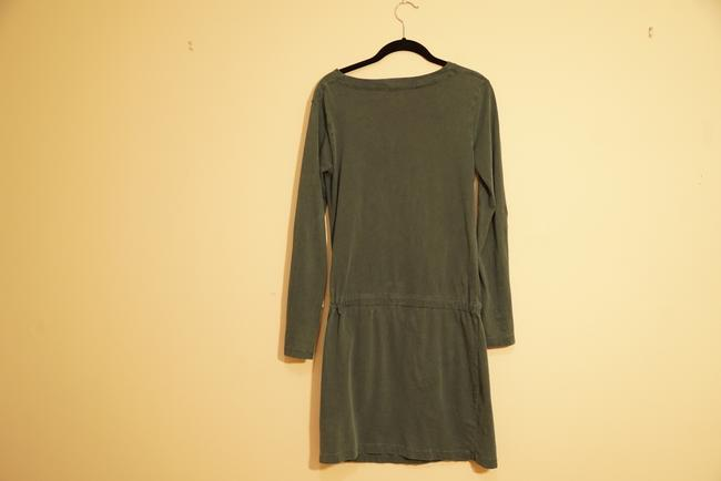 James Perse short dress Forest green Cotton Longsleeve Style Fashion on Tradesy