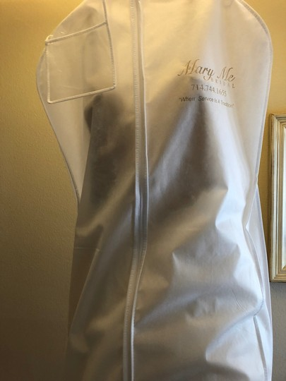 Maggie Sottero Ivory Polyester Style 176 Formal Wedding Dress Size 10 (M)