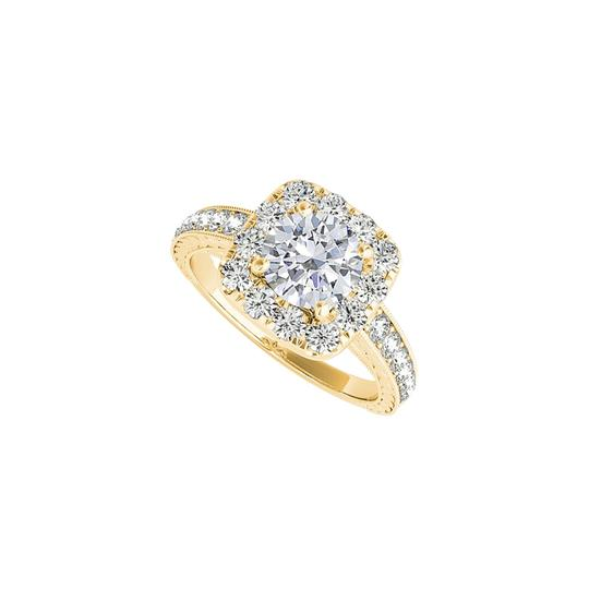 Preload https://img-static.tradesy.com/item/24271643/white-halo-cubic-zirconia-engagement-in-14k-yellow-gold-ring-0-0-540-540.jpg