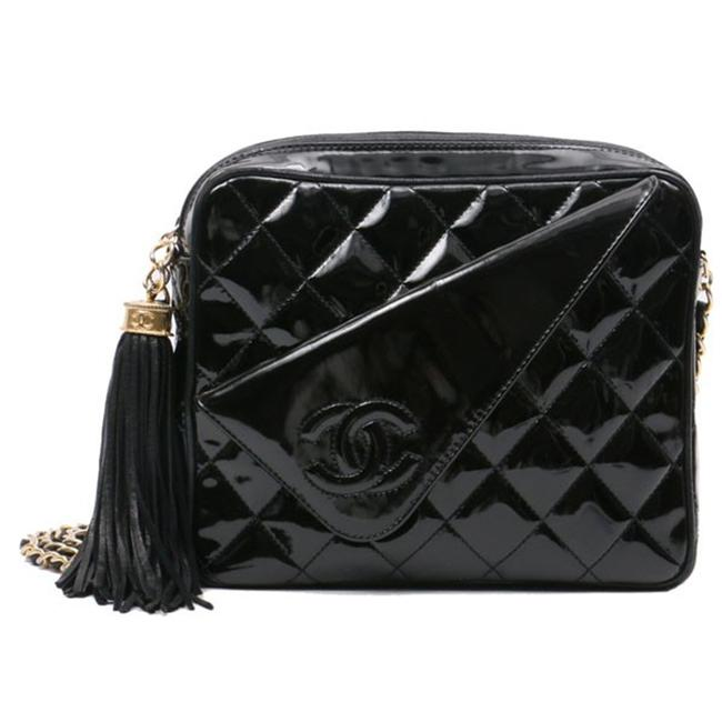 Chanel Classic Flap Vintage Quilted Cc Black Patent Leather Shoulder Bag Chanel Classic Flap Vintage Quilted Cc Black Patent Leather Shoulder Bag Image 1