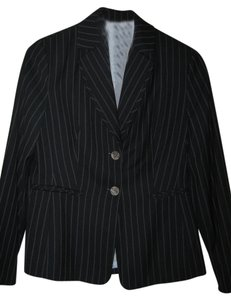 Signature by Larry Levine Navy blue w/white pinstripe skirt suit- 2 pc set