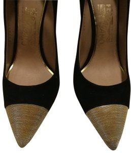 Salvatore Ferragamo Chain Two-tone Cap-toe black Pumps
