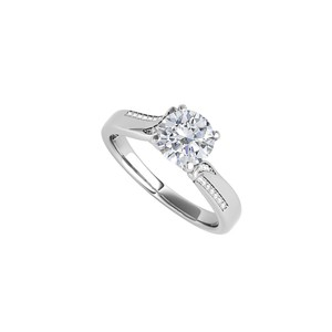 DesignerByVeronica Fab Cubic Zirconia Engagement Ring in 14K White Gold