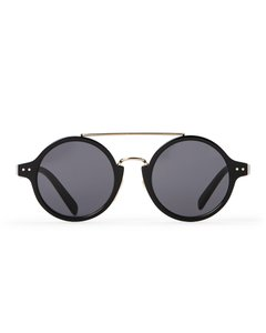Céline NEW Celine CL41442/S Round Black Gold Wired Circle Sunglasses
