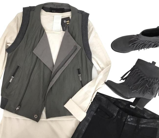 Preload https://img-static.tradesy.com/item/24271901/bcbgmaxazria-grey-green-leatherwool-greengrey-vest-size-8-m-0-3-650-650.jpg
