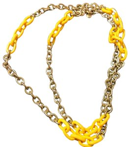 J.Crew J Crew yellow cable gold tone chain link necklace