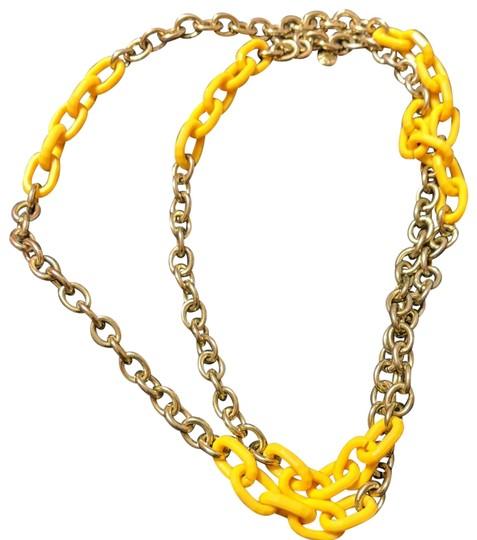 Preload https://img-static.tradesy.com/item/24271907/jcrew-yellow-and-gold-cable-tone-chain-link-necklace-0-1-540-540.jpg