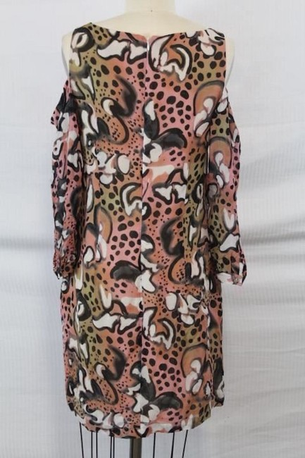 French Connection short dress Tabby/Pink Multi Cut-out Rayon Animal Print on Tradesy