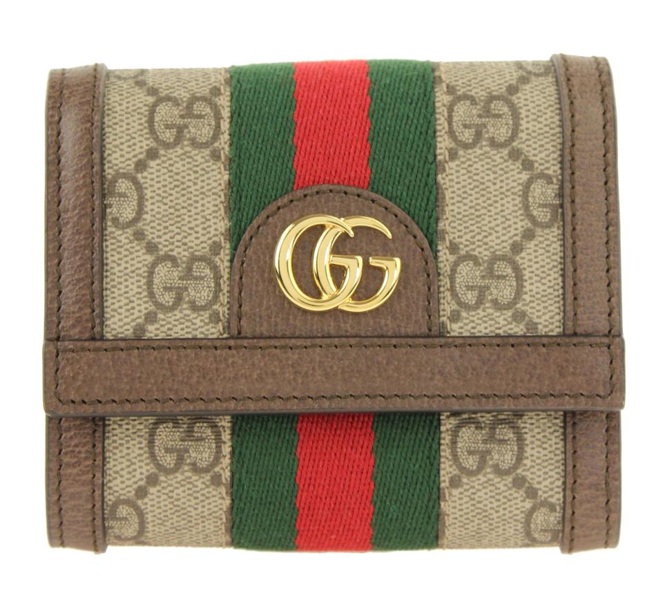 fc969896a90888 Gucci Brown Ophidia Gg Supreme French Wallet - Tradesy