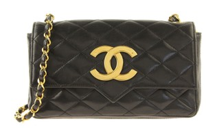 Chanel Vintage Lambskin Leather Crossbody Shoulder Bag