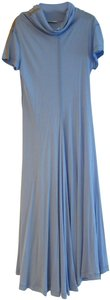 Bleuet Fluid Viscose Maxi Dress by Céline
