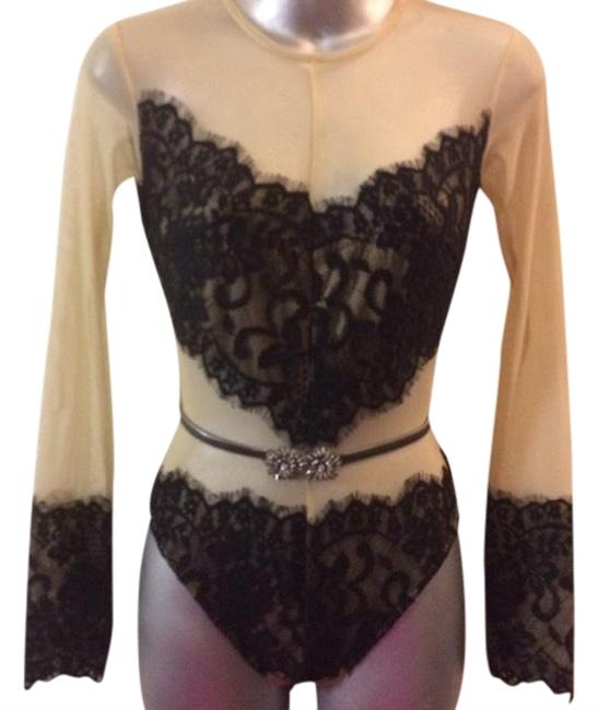 Preload https://img-static.tradesy.com/item/24271977/for-love-and-lemons-nudeblack-sexy-exquisite-nude-bodysuit-with-black-lace-accents-one-piece-bathing-0-1-650-650.jpg