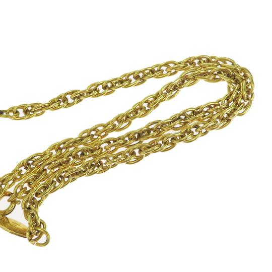 Chanel CHANEL CC Logos Chain Imitation Pearl Necklace Gold-tone