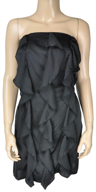 Preload https://img-static.tradesy.com/item/24272012/greylin-grey-black-strapless-stretch-ruffle-short-cocktail-dress-size-12-l-0-3-650-650.jpg