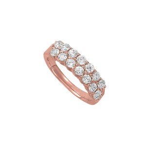 DesignerByVeronica Unique Gift CZ Total Weight Ring in 14K Rose Gold