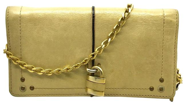 Item - Gold/Beige/Pearl Chain Paddington - Limited Style Wallet
